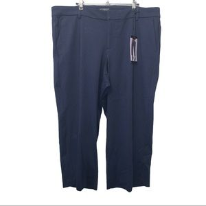 18W NWT Liverpool Navy Cropped Stovepipe Pants